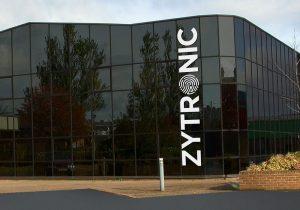 Zytronic graphic branding on building