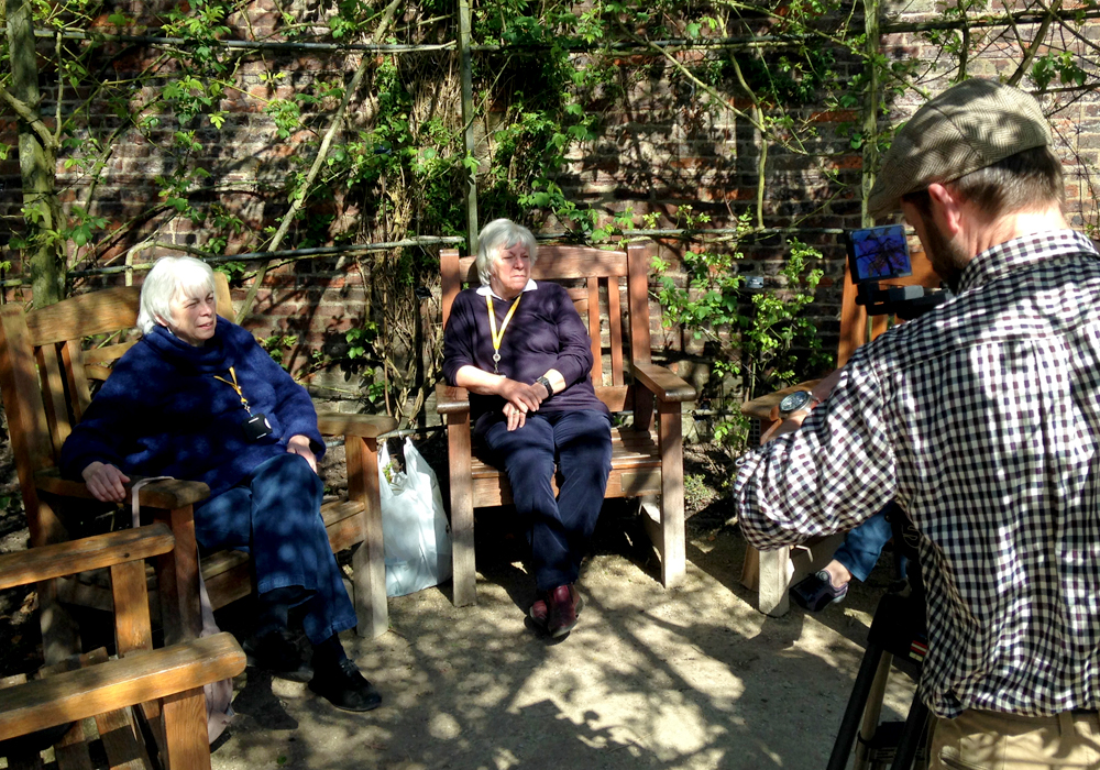 Filming at The Alnwick garden
