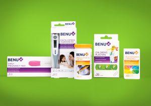 BENU Pharmacy brand packaging