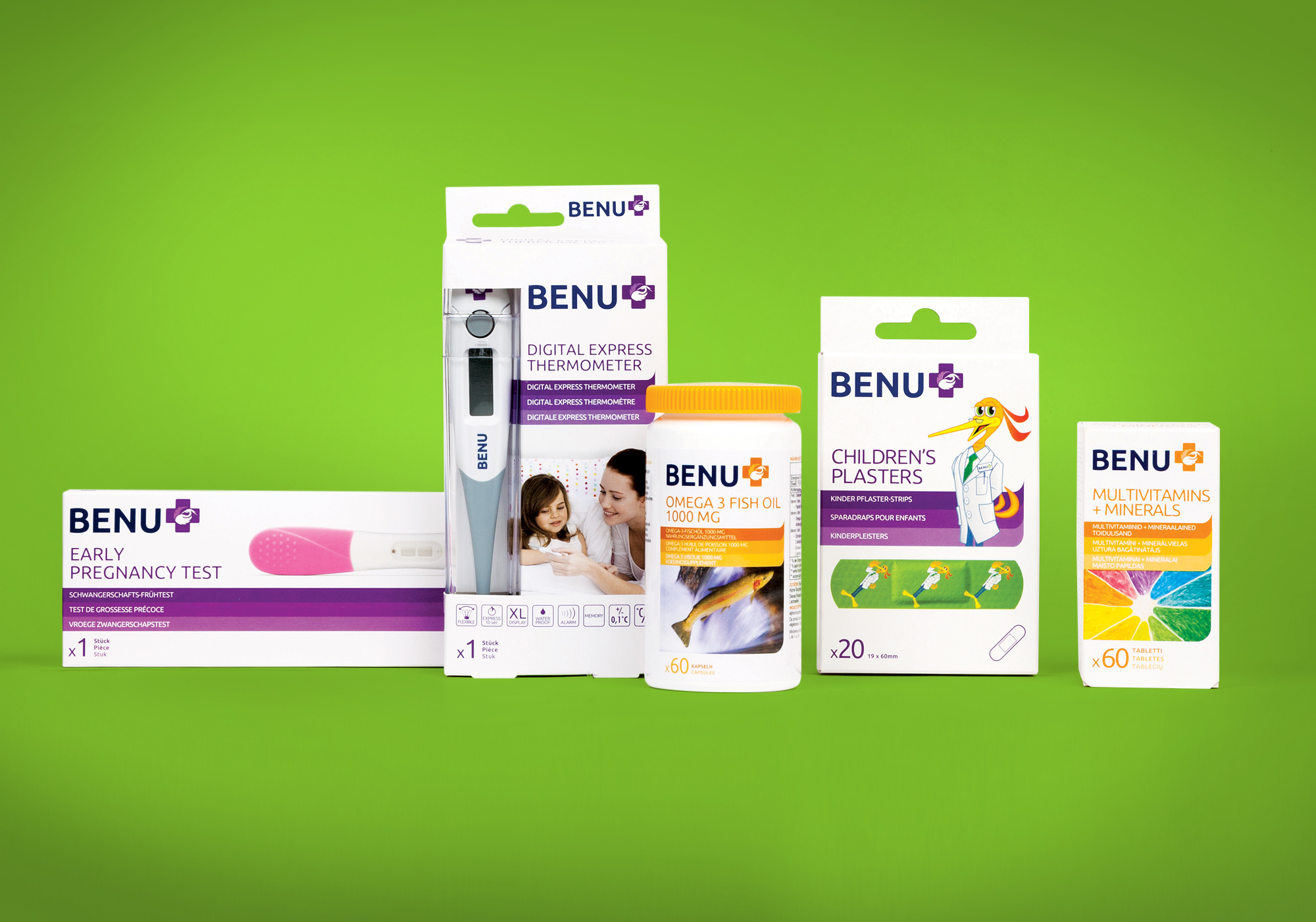 BENU Pharmacy brand packaging