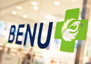 BENU Pharmacy brand logo