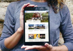 Manx National Heritage website design on ipad
