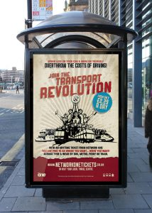 Join The Transport Revolution poster advertisement