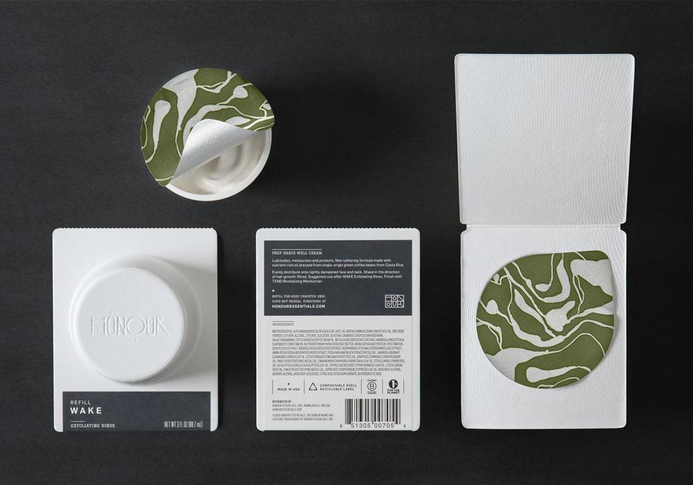 Honour skincare product packaging