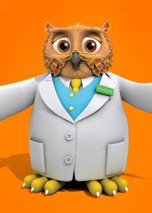 Rowlands pharmacy owl half size