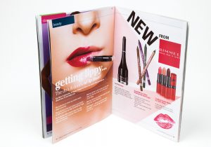 Inside beauty pages of Rowlands Pharmacy magazine