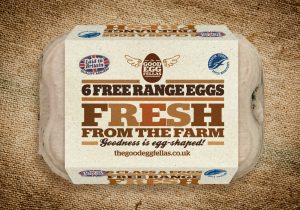 Product packaging for The Good Fellas free range egg