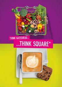 Advertising material for Trinity Square Gateshead