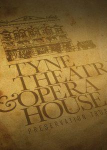 Close up of logo design for Tyne Theatre Opera House