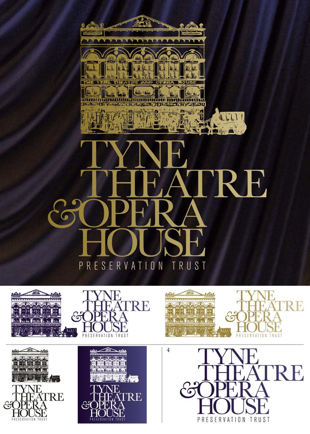Logo designs for Tyne theatre Opera House
