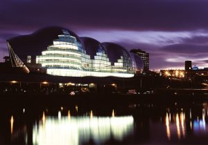 The Sage Gateshead quarter size