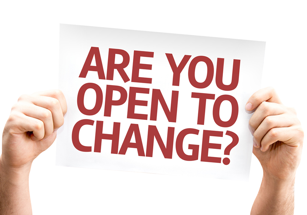 New year's resolutions- are you open to change