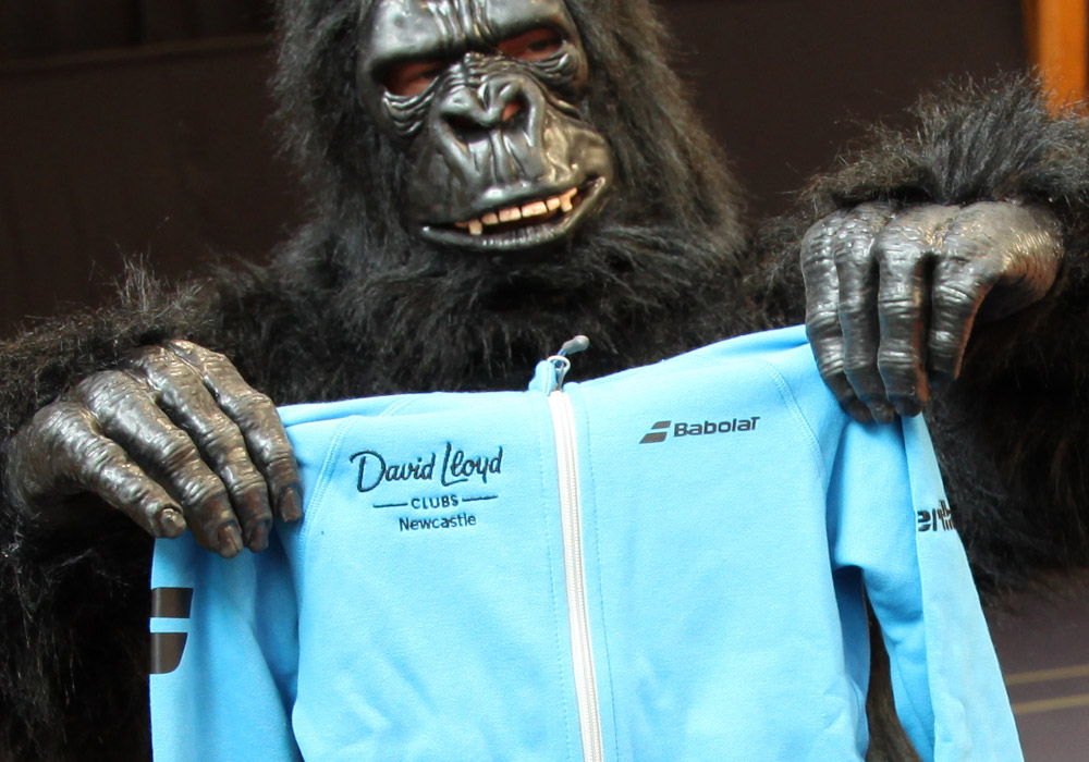 No one knows why he's dressed as a Gorilla?!