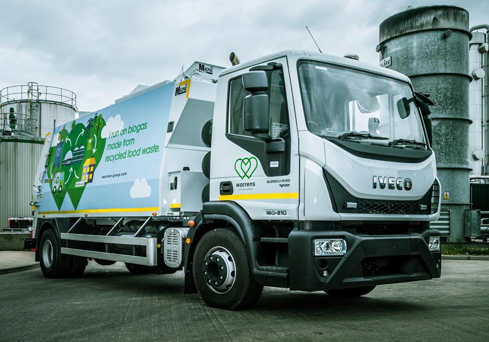 Warrens Biogas Powered Truck